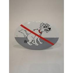 Bajsande hund skylt