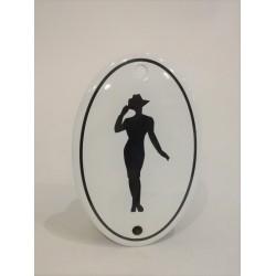 WC skylt med figur , oval